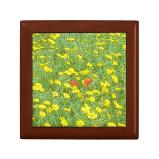 Watercolor poppies gift box
