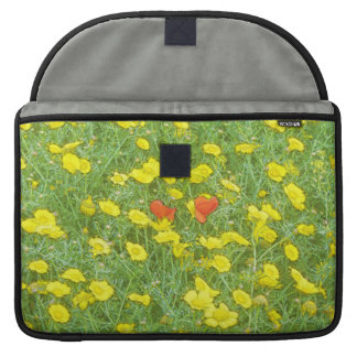 Watercolor poppies MacBook pro sleeves