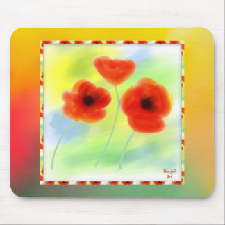 Watercolor Poppies Mousepad