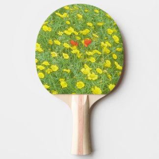 Watercolor poppies ping pong paddle
