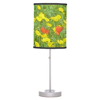 Watercolor poppies table lamp
