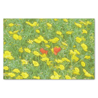Watercolor poppies tissue paper