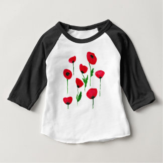 watercolor poppys baby T-Shirt