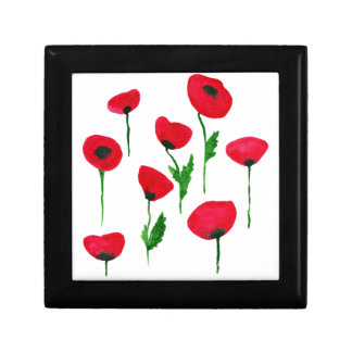 watercolor poppys gift box