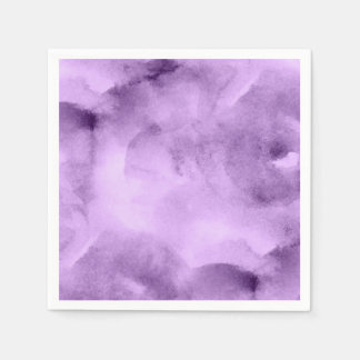 Watercolor Pretty Purples- All Options Paper Napkin