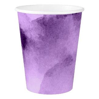 Watercolor Pretty Purples Paper Cup