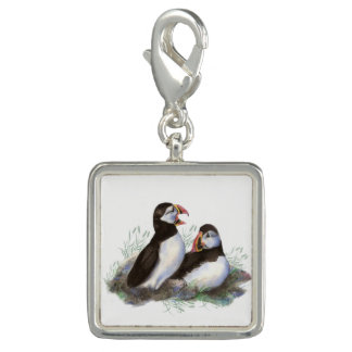 Watercolor Puffin Ocean Bird art Charms