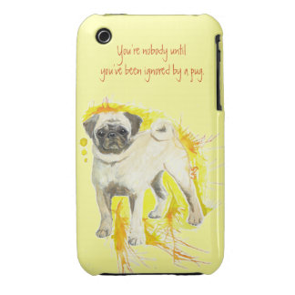 Watercolor Pug Art - You're Nobody... iPhone 3 Cases