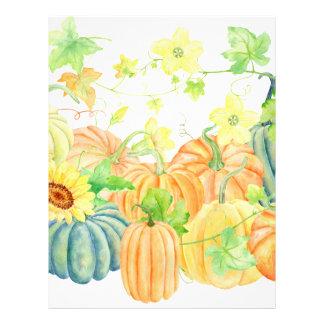 Watercolor pumpkins thanksgiving personalized letterhead