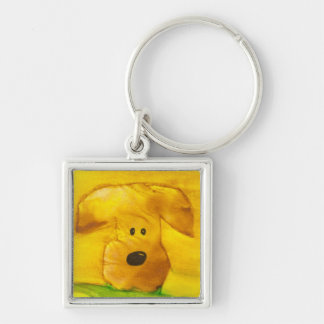 Watercolor Puppy Keychain