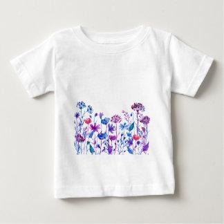 Watercolor Purple Field Flowers Baby T-Shirt
