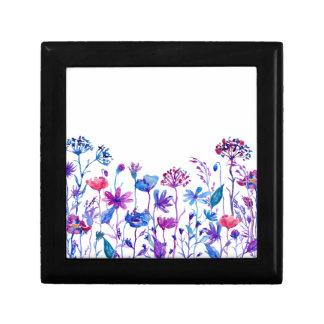 Watercolor Purple Field Flowers Gift Box