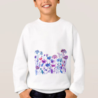 Watercolor Purple Field Flowers Sweatshirt