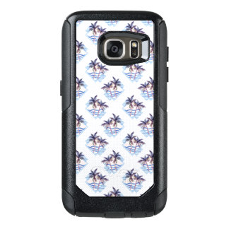 Watercolor Purple Geometric Palm Tree Pattern OtterBox Samsung Galaxy S7 Case