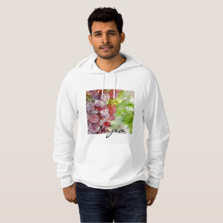 Watercolor Purple Grapes from Napa Valley. Hoodie