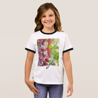Watercolor Purple Grapes from Napa Valley. Ringer T-Shirt