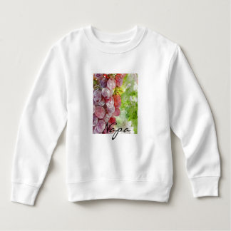 Watercolor Purple Grapes from Napa Valley. Sweatshirt