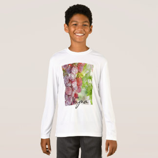 Watercolor Purple Grapes from Napa Valley. T-Shirt