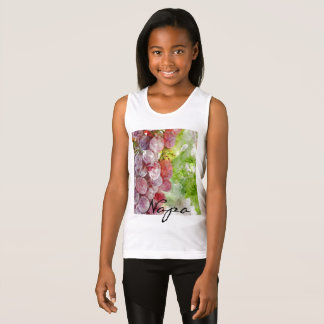 Watercolor Purple Grapes from Napa Valley. Tank Top