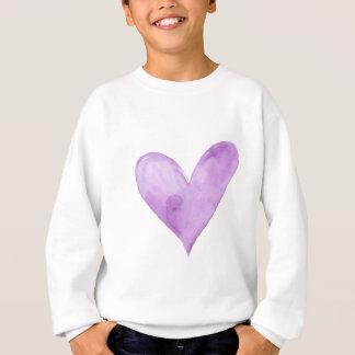 Watercolor Purple Heart, valentine heart Sweatshirt