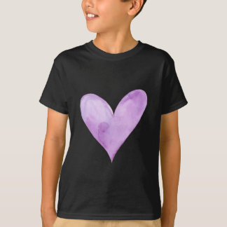 Watercolor Purple Heart, valentine heart T-Shirt