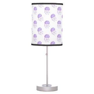 watercolor purple jellyfish table lamps