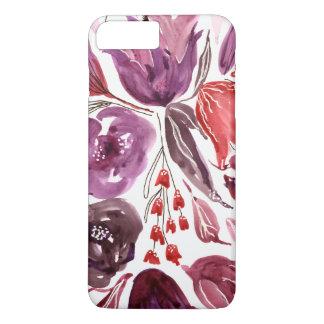 Watercolor Purple + Pink Floral iPhone 7 Plus Case
