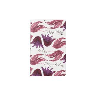 Watercolor Purple + Pink Floral Pocket Notebook