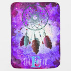 Watercolor Purple Space Nebula Dream Catcher Baby Blanket