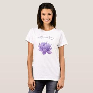 Watercolor purple succulent T-Shirt