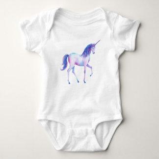 Watercolor purple unicorn baby bodysuit