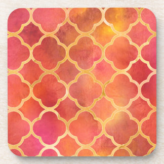 Watercolor Quatrefoil Coaster