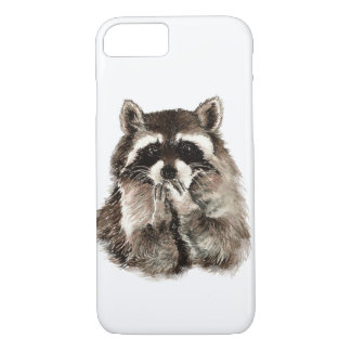 Watercolor Raccoon Animal Nature Art iPhone 7 Case