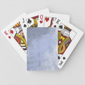 Watercolor Rain Puddle Playing Cards