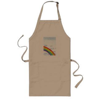 Watercolor Rainbow Arch Long Apron