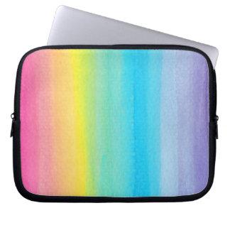 Watercolor Rainbow Design Laptop Sleeve