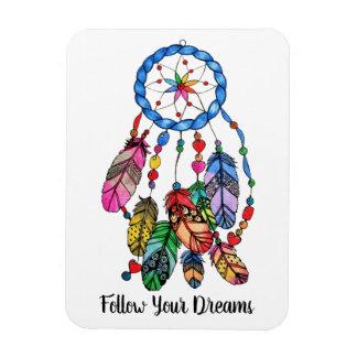 Watercolor rainbow dream catcher & inspiring words magnet