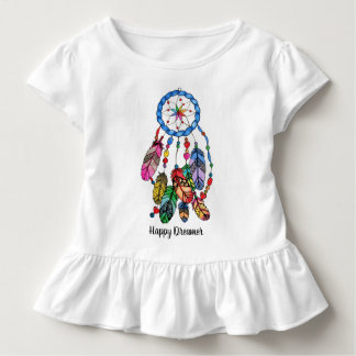 Watercolor rainbow dream catcher & inspiring words toddler t-shirt