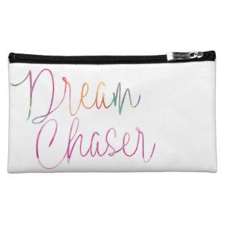 Watercolor Rainbow Dream Chaser Script Cosmetic Bag