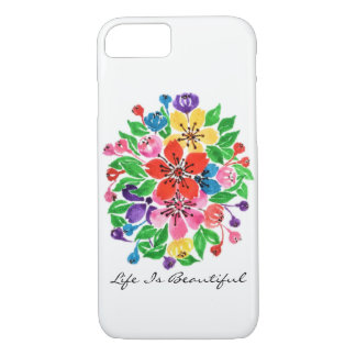 Watercolor Rainbow Flowers iPhone 8/7 Case