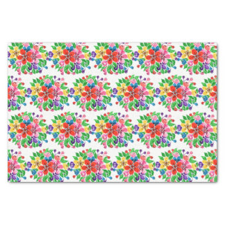 Watercolor Rainbow Flowers Tissue Paper