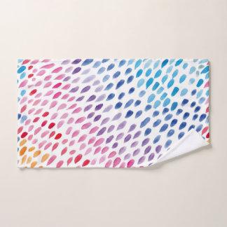 Watercolor Rainbow Hand Towel