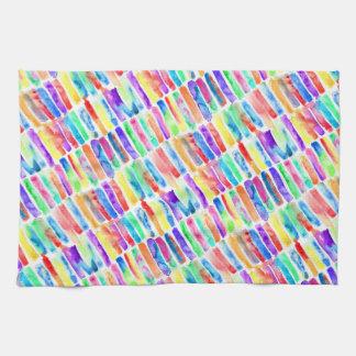 Watercolor Rainbow Kitchen Towel