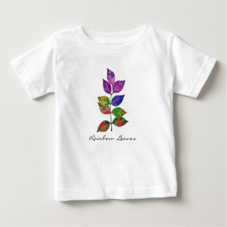 Watercolor Rainbow Leaves Baby T-Shirt