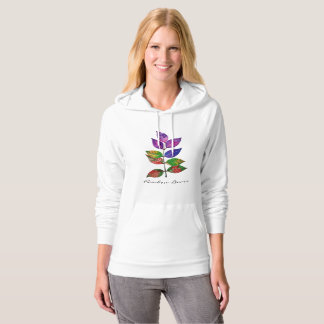Watercolor Rainbow Leaves Hoodie