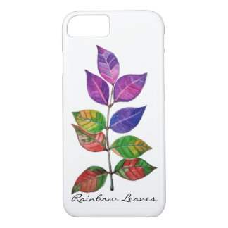 Watercolor Rainbow Leaves iPhone 8/7 Case