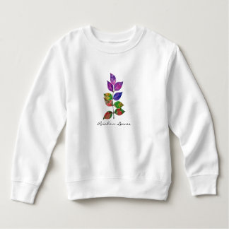 Watercolor Rainbow Leaves Sweatshirt