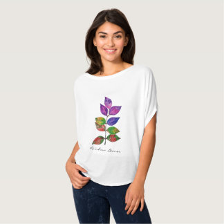 Watercolor Rainbow Leaves T-Shirt