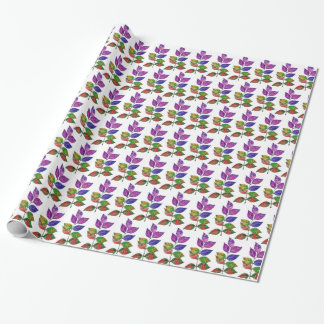 Watercolor Rainbow Leaves Wrapping Paper