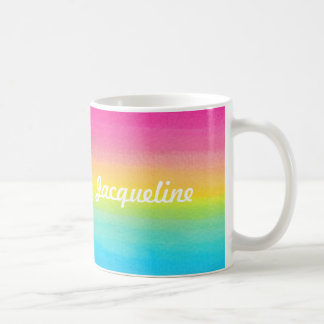 Watercolor Rainbow Personalized Mug